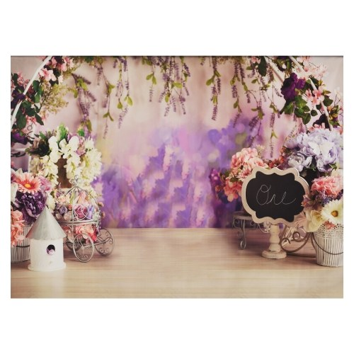 2.1 * 1.5m/ 7 * 5ft Photography Background Portrait Photography Backdrops with Flowers Pattern Photo Studio Props for Portrait Product Photos Party Decoration