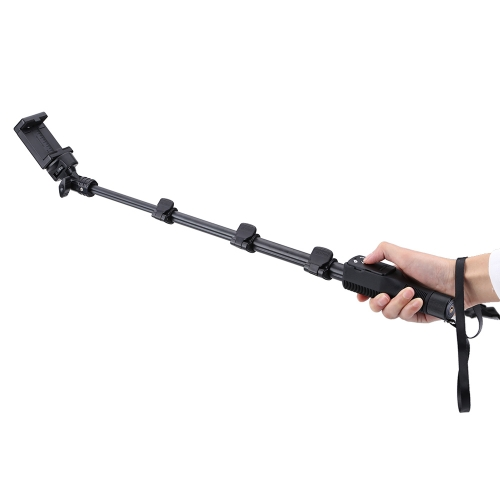 Extendable Foldable Telescopic Wireless Bluetooth Remote Shutter Handheld Rotatable Selfie Self-Timer Pole Monopod Stick with Zoom for iPhone Samsung Smartphones Camera Sport DV