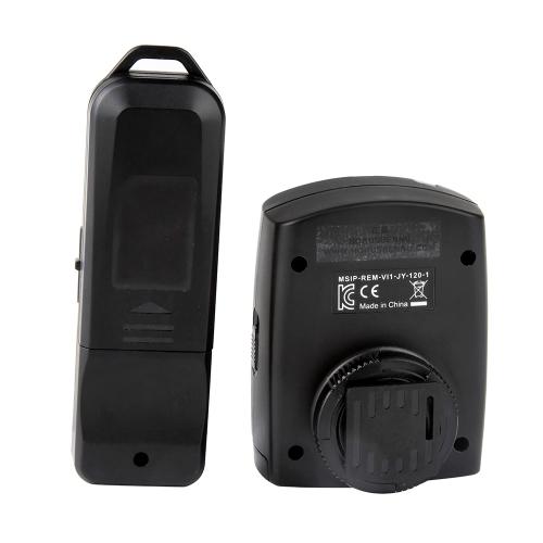 VILTROX JY-120-N3 cable de enchufe reemplazable Mini temporizador inalámbrico Conjunto de controlador de liberación de obturador remoto Receptor de transmisor con cable N3 para cámaras Nikon D7100 D7000 D5100 D5000 D3200 D3100 DSLR