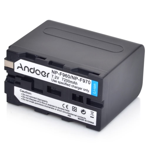 Andoer аккумуляторная камеры видеокамера литий литий-ионный аккумулятор для Sony NP-F960 NP-F970 NP-F930 F950 F330 F550 F570 F750 F770