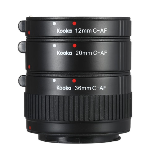 Set per tubi di prolunga Macro Micnova KK-C68P per Canon (12mm / 20mm / 36mm) 60D 70D 5D2 5D3 7D 6D 650D 600D 550D