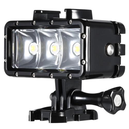 Mini Portable LED nurkowanie Wideo Fill-In Light Spotlight Lampa 3 tryby Wodoodporny 30m podwodne z 1200mAh Wbudowany akumulator do GoPro Hero SJCAM Xiaomi Yi Sports działania aparatu fotograficznego