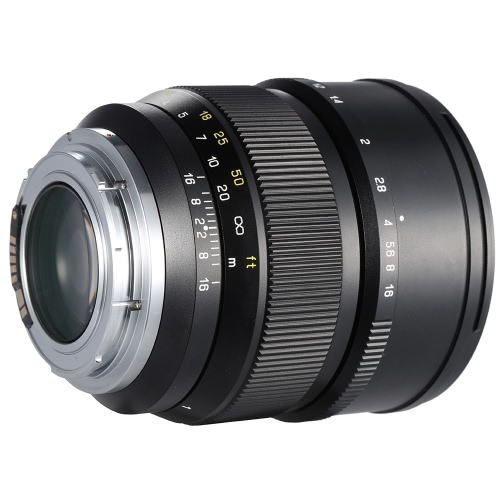 Zhong Yi Optics 85mm F1.2 135 Full Frame Fixed Focal Long Lens for Canon EF Mount SLR Cameras