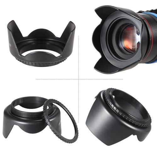 Andoer 52 мм Комплект фильтров (UV + CPL + FLD) + нейлон нести мешок + крышка объектива + держатель крышка объектива + бленда объектива ткань для очистки фото