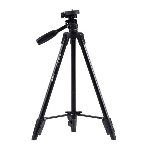 YUNTENG Portable Aluminum Alloy Lightweight Tripod with Universal Smartphone Mount for Sony ILDC Digital Camera