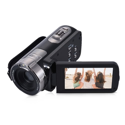 HDV-302P 3,0 calowy ekran LCD Full HD 1080p 15fps 24MP 16X zoom cyfrowy Anti-shake Digital Video Camera Kamera DV