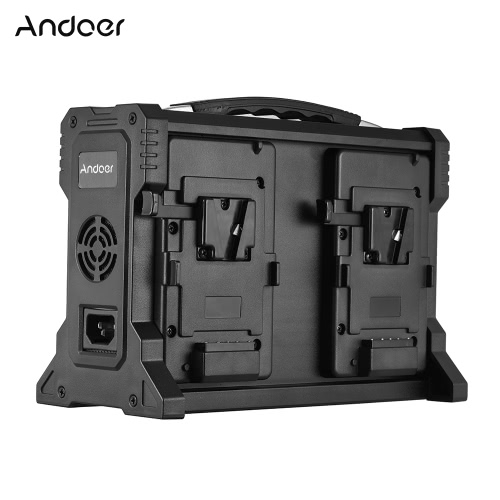 Andoer AD-4KS 4-Channel Camcorder Battery Charger for V-Mount Battery for DSLR Video Camera