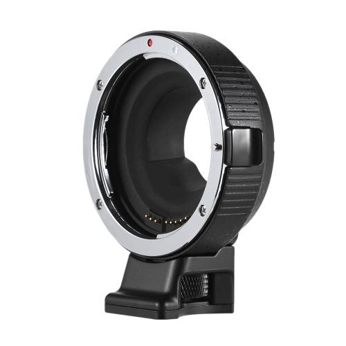 La exposición adaptador de montaje Andoer EF-MFT lente electrónica Anillo abertura de control automático incorporado es para Canon EF / EF-S para M4 / 3 para Olympus PEN E-P1 P2 / 3/5 E-PL1 OM-D E -M5 para Panasonic LUMIX GH2 / 3/4