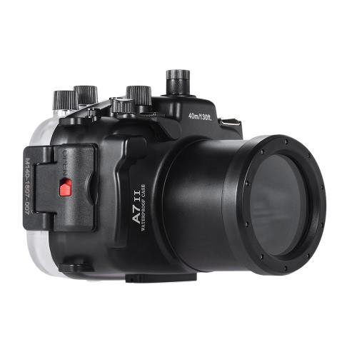 MEIKON SY-19 40m / 130 футов Подводные водонепроницаемые камеры жилищно Черный Водонепроницаемый чехол для камеры Sony A7 II со сменным портом