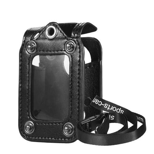 Andoer Multifuncional Clip-on Sports Protecive Camera Carrying de suspensão caso saco com tampa de lente Neck Lanyard para SJ5000 SJ4000 SJCAM ou a ação Cam mesmo tamanho