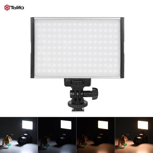 Tolifo PT-15B Proのハイパワー超薄型調光2色温度3200K  -  5600K 144pcs LEDライトフィルインオンカメラパネルランプの最大1500LMキヤノン、ニコン、ソニーのデジタル一眼レフカメラビデオカメラビデオスタジオ写真のために
