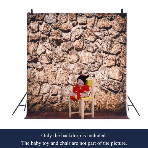 1,5 * 2m / 4,9 * Tło 6.5ft Fotografia tle Computer Printed rock wzór Drewniane Podłogi dla dzieci Kid Dziecko Noworodek Pet zdjęcie portret studio fotografowania