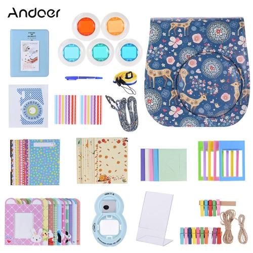 andoer 14 in 1 accessories kit for fujifilm instax mini 8/8+/8s w/