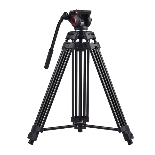 Miliboo MTT601A profesional Fotografía de aleación de aluminio de soporte del trípode de 3 secciones y 360 ° Panorama fluido hidráulico Tazón Cabeza Max. Altura 153cm / 5 pies de carga 10 kg Capacidad para Canon Nikon Sony DSLR Cámaras Videocámaras