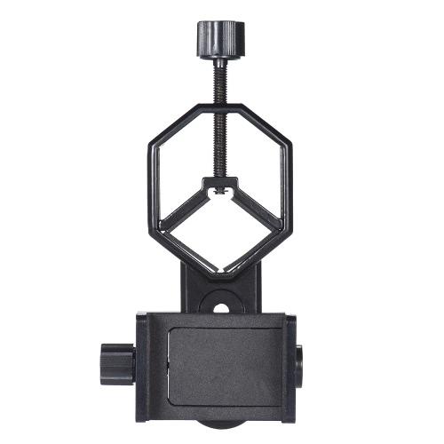 iPhone 7Plus / 7 / 6s / 6Plus用双眼単焦点スポットスコープ顕微鏡のためのスマートフォン携帯電話ホルダークリップ付きAndoerメタル望遠鏡マウントアダプターブラケット