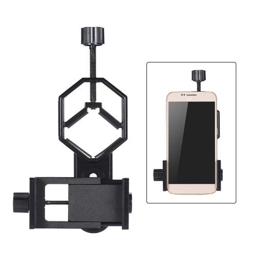 Andoer Metalowe uchwyty teleskopowe z uchwytem do adaptera ze smartfonem Adjuatable Clip uchwyt do telefonów komórkowych do okularów monokularnych mikroskopu do mikroskopów do iPhone 7Plus / 7 / 6s / 6Plus