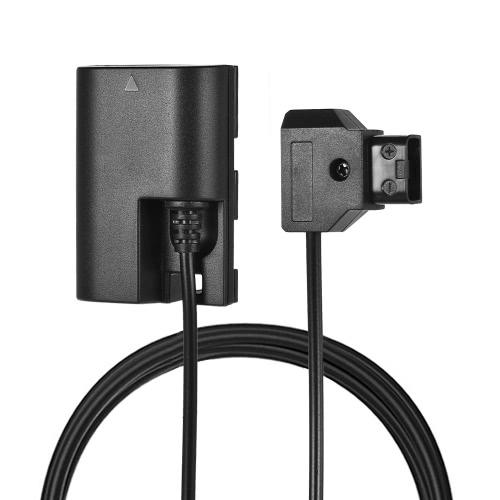 Andoer D-Tap vers LP-E6 Adaptateur de batterie factice entièrement décodé Câble d'adaptateur à alimentation directe 36 po Coupleur DC DR-E6 avec protection contre la polarité inverse pour Canon 5D II / III / IV 5DSR 6D 6DII 60D 70D 80D 7D 7DII