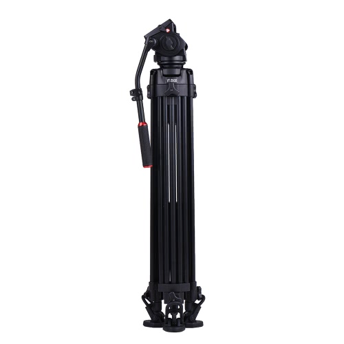 Kingjoy VT-3500 197cm/6.5ft Camera Camcorder Tripod with VT-3530 Fluid Damping Head/Non-slip Horseshoe-shape   Foot/Stable Middle Support Aluminum Alloy Max. 20kg/44Lbs Load for Sony A7 A7II A7RII ILDC Video Studio Photography Film Making