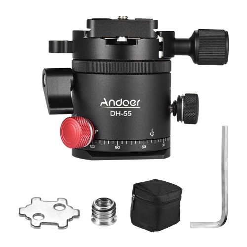 Andoer DH-55 Indexing Rotator HDR Panorama Panoramic Ball Head with 1/4