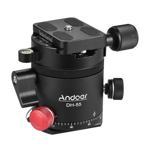 "Andoer DH-55インデックスローテーターHDRパノラマパノラマボールヘッド(1/4 ""クイックリリースプレート付き)バブルレベルバッグアルミニウム合金最大荷重15kg / 33Lbs for Camera Tripod"