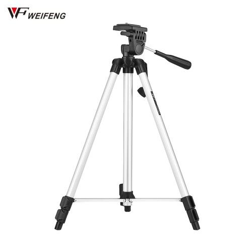 """WEIFENG WT-330A lekki, przenośny statyw fotograficzny aluminiowy aluminiowy max. Załaduj 3 kg z 1/4 """"śrubą do szybkiego uwalniania dla kamer Nikon Canon Sony DSLR Camcorders"""