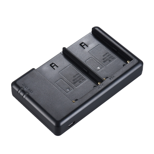 FB NP-F550 Camera Battery Charger 2-Channel Micro-USB Input