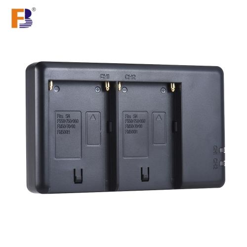 Cargador de batería de la cámara FB NP-F550 Entrada de micro-canal de 2 canales