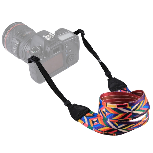 Courroie d'appareil-photo d'épaule de cou de coton de style rétro double