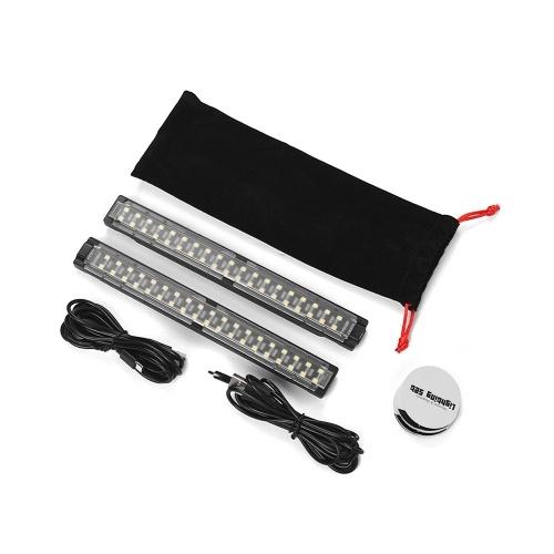 Slowbeat mobile et magnétique ensemble d'éclairage 2pcs LED Light Strip Bar Kit 6400K 500 Lumens 6W 5V 1-2A entrée USB pour la plupart des boîtes d'éclairage photo