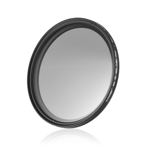 ZOMEI 77mm Ultra Slim Variable Fader ND2-400 Neutral Density ND Filtro ajustable ND2 ND4 ND8 ND16 ND32 a ND400
