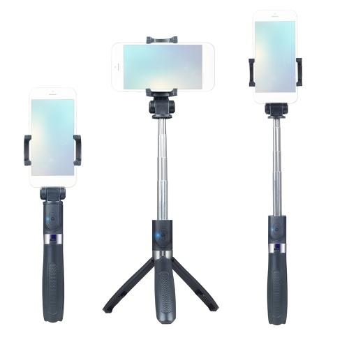 Erweiterbarer 5-teiliger Selfie-Stick Integrierter Handyhalter Tabletop-Stativ
