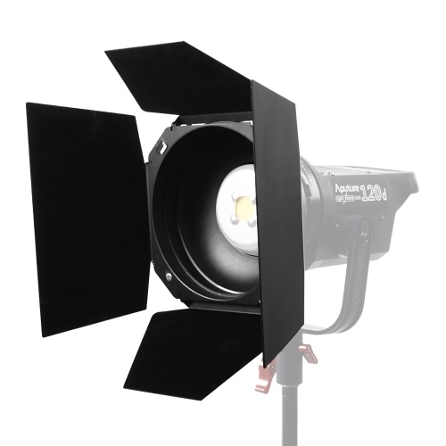 Aputure Barndoor Standard da 7 pollici Bowens Mount Barn Door Design a 4 foglie con supporto in gel a nido d'ape per Aputure LS COB 120T / 120D / 120D II / 300D LED Video Light