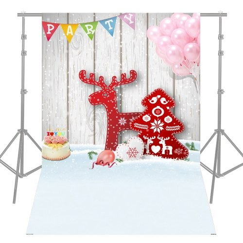 Andoer 1.5 * 2.1m-5 * 7ft High Quality Christmas Style Photography Background