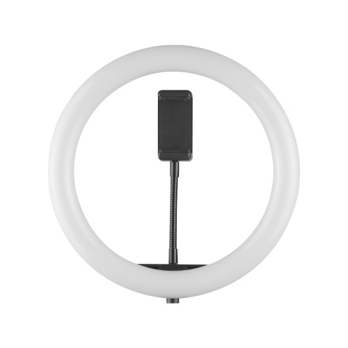 10 Inch Desktop LED Video Ring Light Lamp 3 Lighting Modes Dimmable USB Powered with Phone Holder Ballhead Adapter for YouTube Live Video Recording Network Broadcast Selfie Makeup