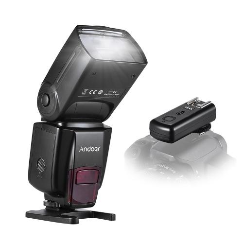 Andoer AD560 IV Pro 2.4G Wireless Universal On-camera Slave Speedlite Flash Light GN50