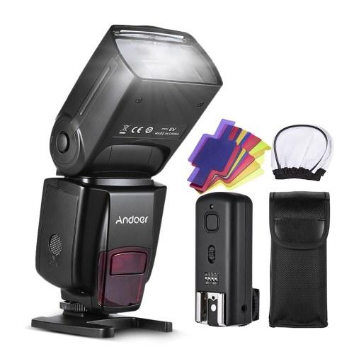 Andoer AD560 IV Pro 2.4G Sem Fio Universal Na Câmera Escravo Speedlite Flash Light