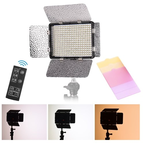 Andoer Led Video Light Camera Lamp with Magnetic Adsorption USB Powered Adjustable Brightness Dimmable//Color Temperature Changing for Video Makeup Live Show Taking Pictures