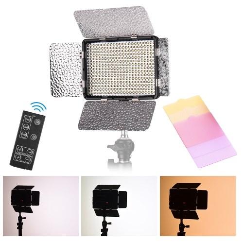 LED Video Light Photography Lamp Panel Brightness Adjustable 5500K with 3pcs Color for Canon Nikon Sony DSLR Camera DV Camcorder