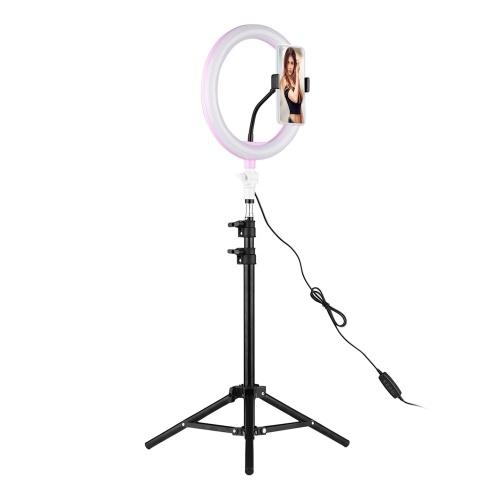 26cm/10 Inch LED Ring Light with Light Stand Universal Phone Holder Kit