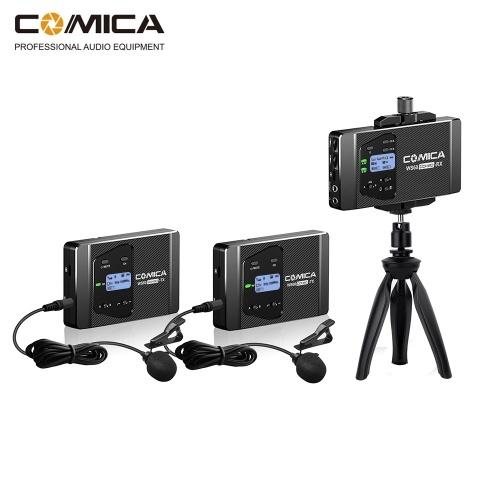 CoMica CVM-WS60 COMBO 1-Trigger-2 Flexible Mini Wireless Microphone