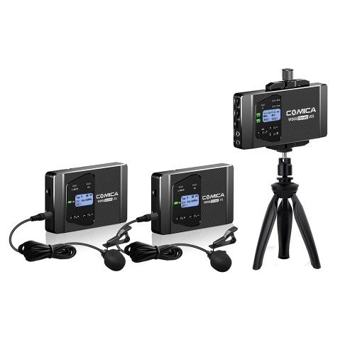 CoMica CVM-WS60 COMBO 1-Trigger-2 Flexibles drahtloses Mini-Mikrofonsystem (zwei Sender, ein Empfänger)