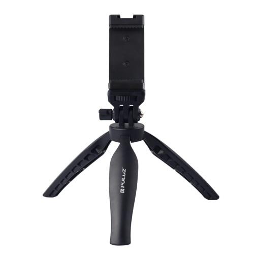 Supporto per treppiede in plastica da scrivania PULUZ con morsetto per telefono e testa regolabile per treppiede per fotocamere attive per telefoni cellulari
