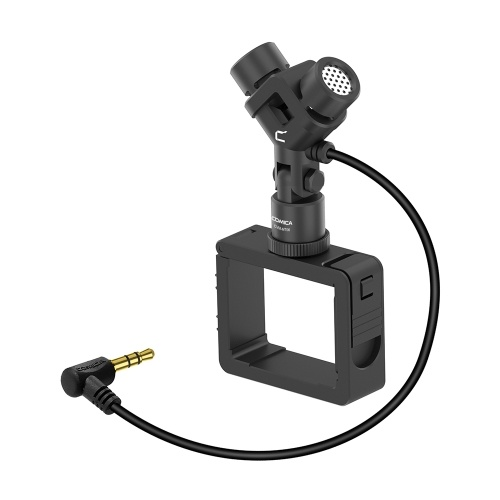 COMICA Cardioid Condenser Microphone XY Stereo Motion Compatible with DJI OSMO Pocket