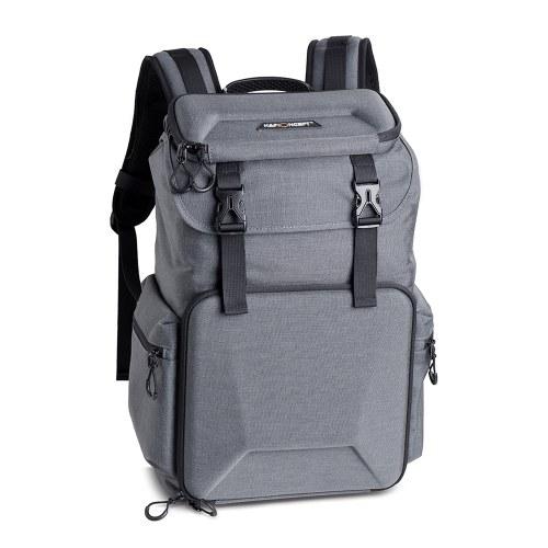 K&F CONCEPT Camera Backpack Sac de rangement pour photographie étanche avec boucle de verrouillage de diviseur amovible