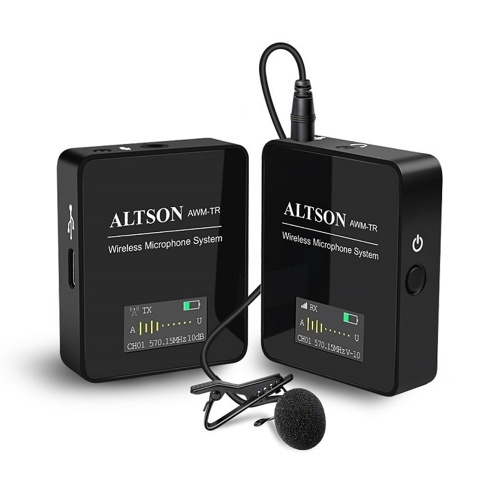 ATLSON UHF Wireless Microphone System with Receiver Transmitter with Noise-cancelling