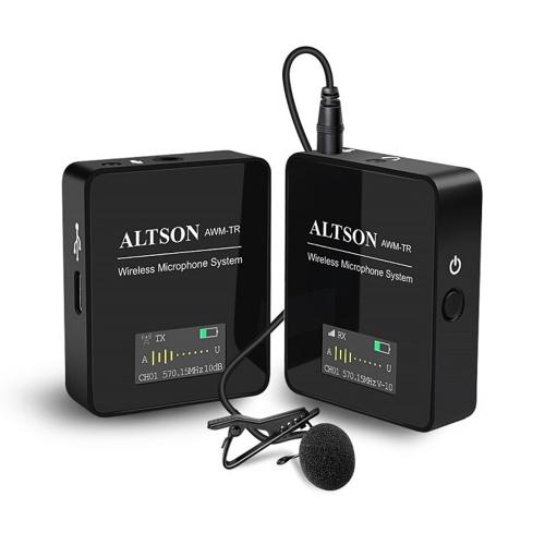 Système de microphone sans fil ATLSON UHF avec émetteur-récepteur avec suppression du bruit
