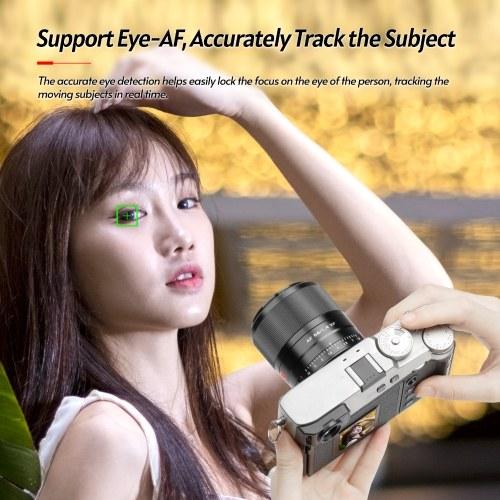 Viltrox AF 56/1.4 XF 56mm F1.4 Large Aperture Auto Focus Portrait Lens APS-C Format Support Eye-AF Lightweight Replacement