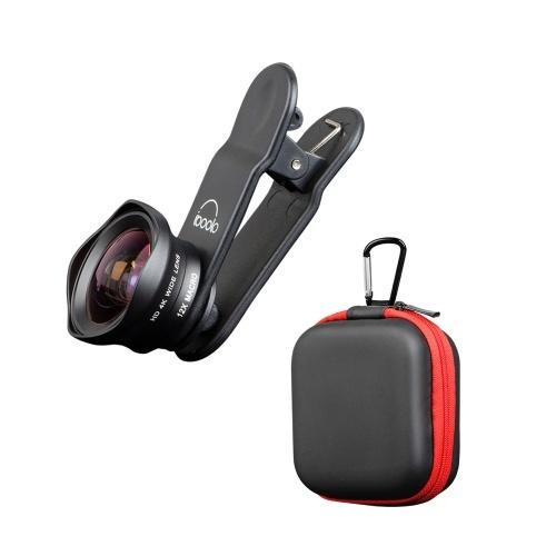 Zwei in einem 16 mm breiten Objektiv + 12X Makroobjektiv-Set Clip-on-Telefonkameraobjektiv