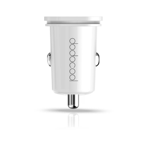 dodocool 24W 4.8A Mini Dual USB Car Charger Power Adapter para USB-powered dispositivos Branco