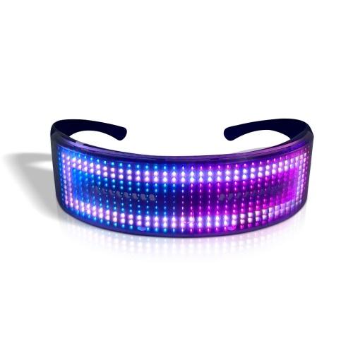 LED Party Glasses BT APP Control LED Light Up Glasses Flashing Glowing Luminous Glasses